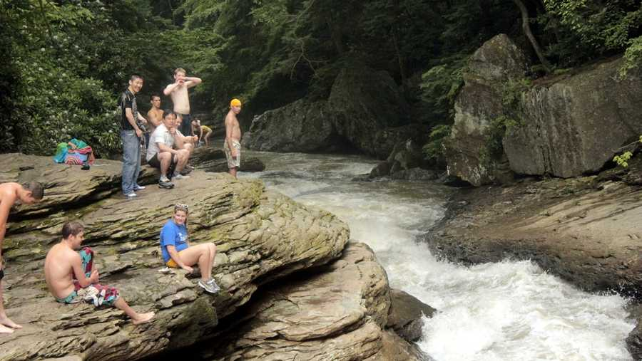 Ripples and potholes have been carved into the rock by years and years of powerful currents and spinning rocks. It is a very popular area in the park. VIDEO: Take a tour of Ohiopyle's water slide.