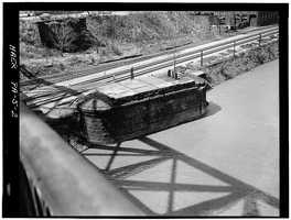 April 1970 - The piers of the first point bridge that was demolished in 1927, Spanning Monongahela River at Point of Pittsburgh