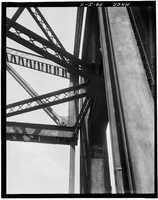 April 1970 - Closer look of the detail of the north portal of the Point Bridge, Spanning Monongahela River at Point of Pittsburgh