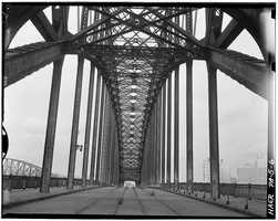 April 1970 - View looking north at Point Bridge, Spanning Monongahela River at Point of Pittsburgh