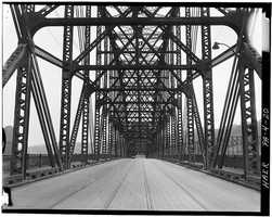 April 1970. Looking north - North Side Point Bridge, Spanning Allegheny River at Point of Pittsburgh