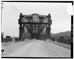 April 1970. North end portal - North Side Point Bridge, Spanning Allegheny River at Point of Pittsburgh
