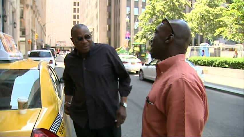 Dusty Baker was interviewed by WTAE reporter Sheldon Ingram during a Cincinnati Reds road trip to Pittsburgh in 2012.