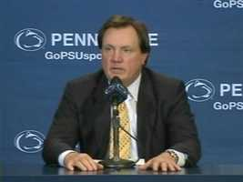 Paterno's longtime assistant, Tom Bradley, was named the interim head coach through the end of the season.