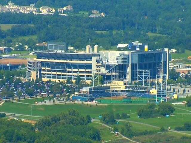 Beaver Stadium, where Penn State plays its home football games.