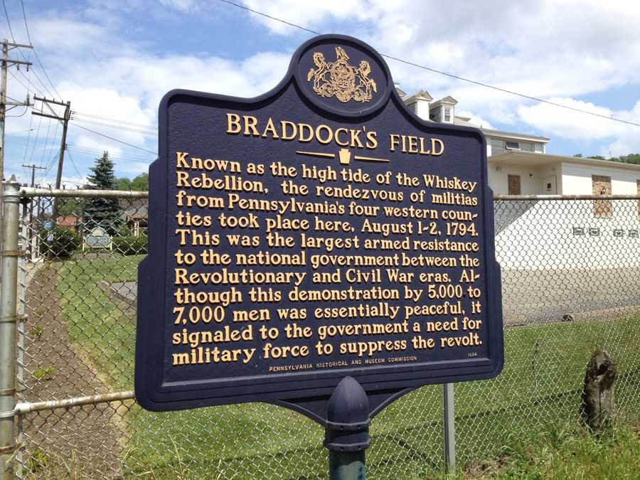 Braddock's Field is an historic spot dating back to the time of the Whiskey Rebellion.