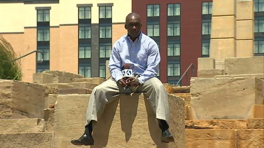 Channel 4 Action News' Sheldon Ingram on the North Shore water steps