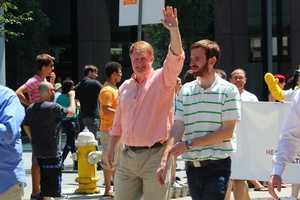 Allegheny County Executive Rich Fitzgerald marching in Sunday's parade.