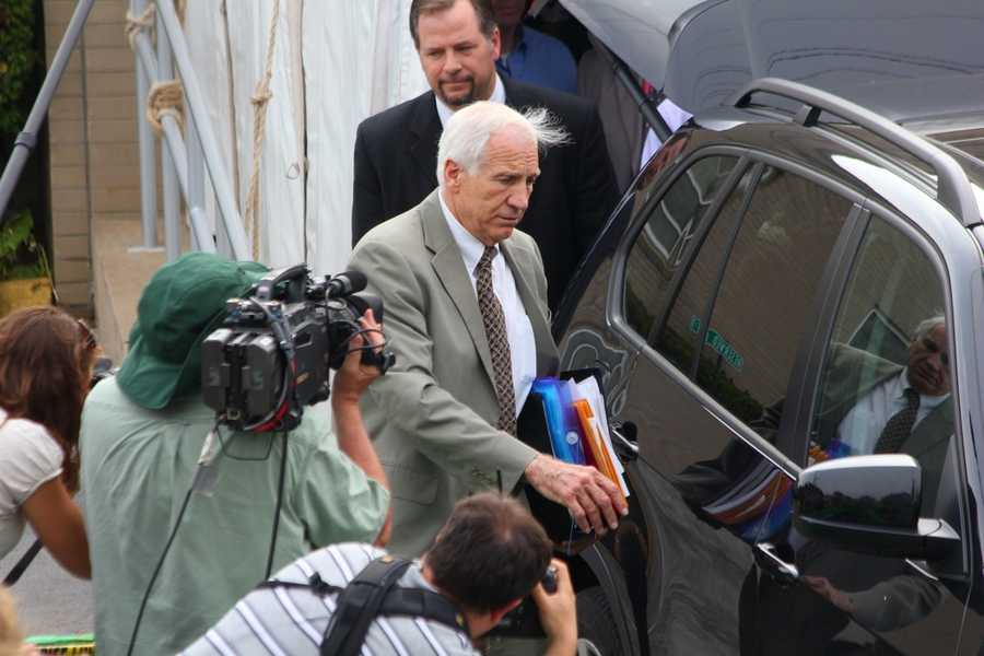 No. 1: Sandusky allegedly fondled and performed oral sex on him in his home and State College hotels. The boy was 11-15 at the time. Sandusky was barred from his high school in 2009 after the boy's mother alerted school officials, triggering the investigation that produced charges. Involuntary deviate sexual intercourse, indecent assault, unlawful contact with minor, corruption of minors, endangering a child's welfare.