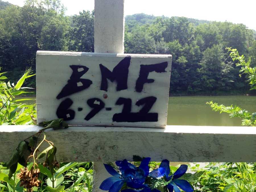 Brandon Fuller memorial cross