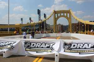 Air temperatures were in the mid 90s, but it felt like it was over 100 degrees on the asphalt of the bridge, next to PNC Park.
