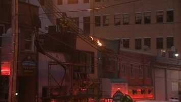 The sparking wires were located in the 100 block of Oakland Avenue near the University of Pittsburgh.