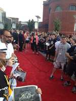 Outside before the first round of the draft, a Red Carpet was setup to welcome the top draft picks to Pittsburgh and Consol Energy Center.
