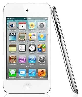 8 GB white iPod touch. Click here to preview all auction items.