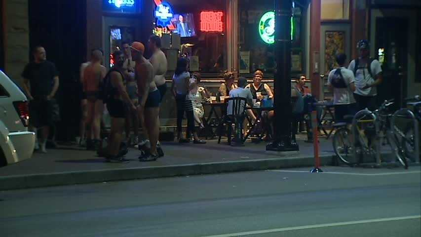 The group Pgh Underwear Bike Ride said Thursday night's event was a fundraiser for a bike rider who was seriously hurt in a hit-and-run crash in Lawrenceville.