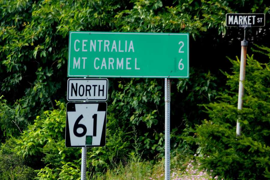 Just a short drive up Route 61, outside of Ashland, is Centralia, a town... that has been virtually removed from the map.