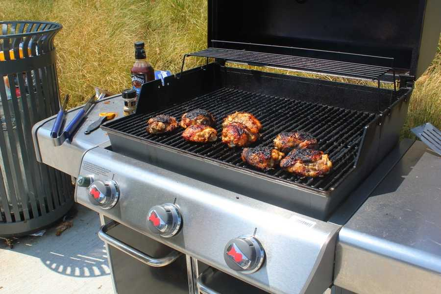 Grilling before the concert!