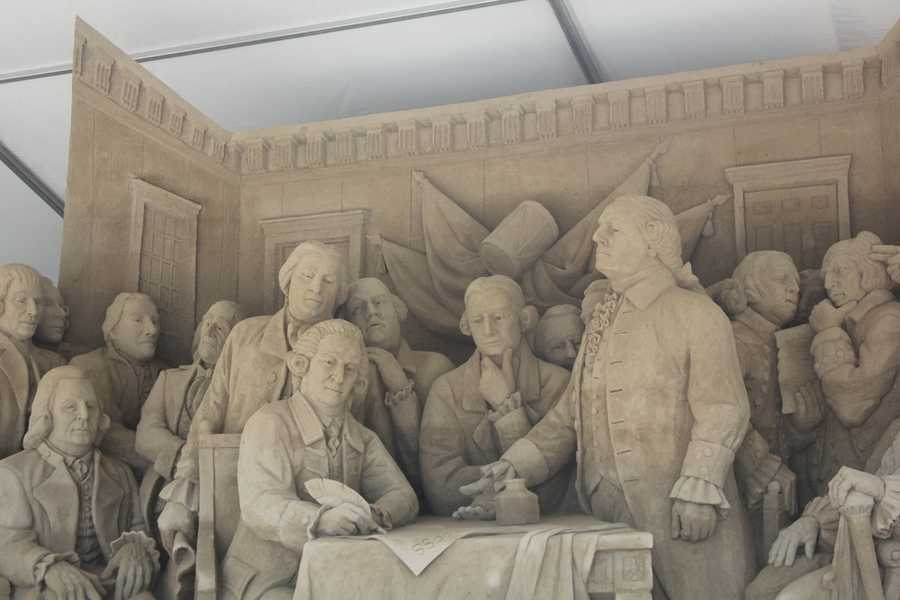 One of the most popular features of the event: theSandsational Sand Sculpture. This is a look at the 2012 sculpture.