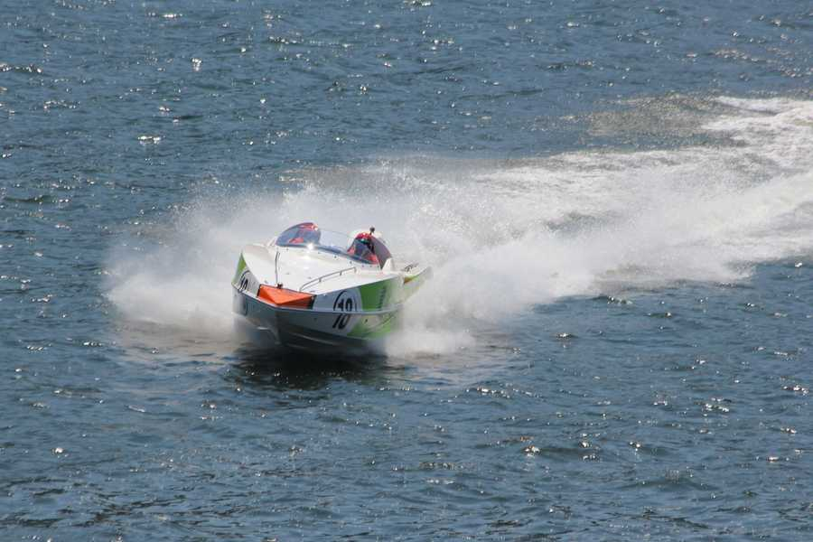 Different types of powerboats will be on the Allegheny River each day through July 4th - at various times during the day and evening.