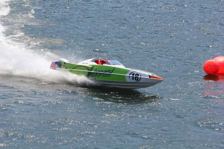 Different types ofpowerboatswill be on the Allegheny River each day through July 4th - at various times during the day and evening.