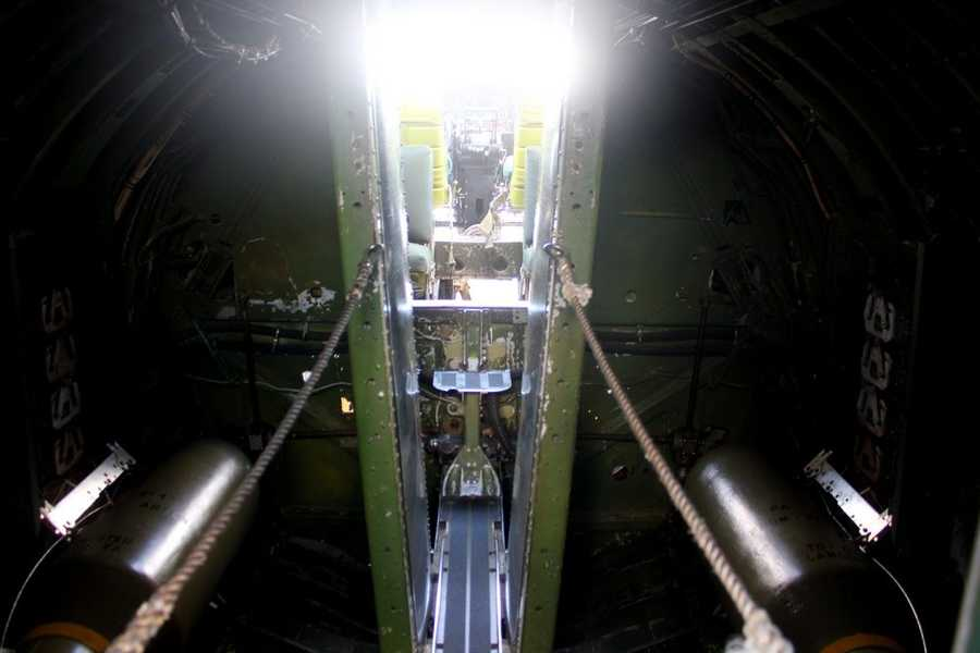 This is the narrow passageway from the rear of the plane (where passengers now enter) to the front of the plane.