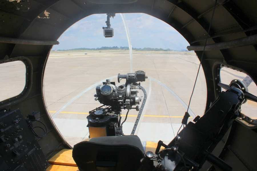 Here's the view from the nose of the plane.  Click here to watch RAW video of what the entire flight looked like from here.