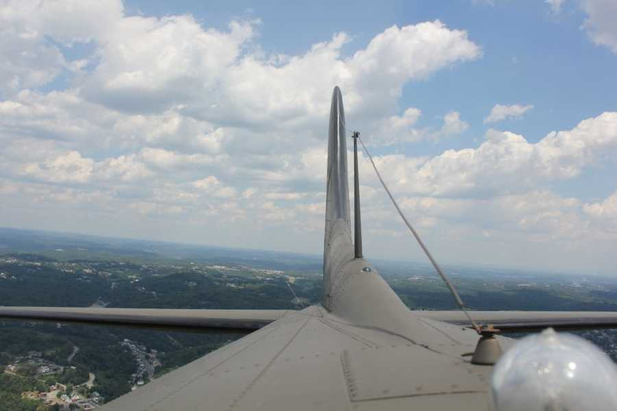 This photo was taken from the roof of the plane, several thousand feet in the air.