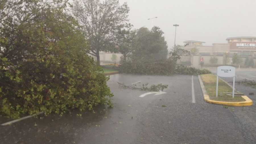 These photos are from the Monroeville Mall right after the storm, which packed very strong winds, pushed through.