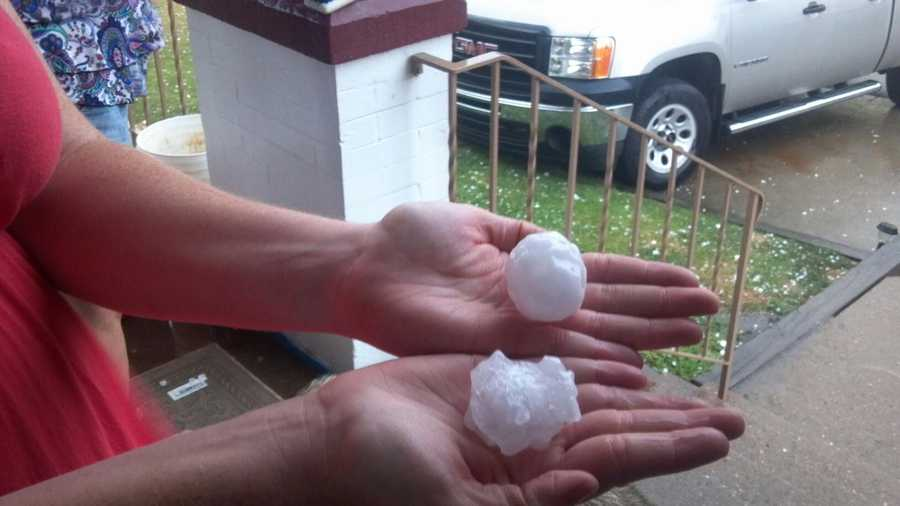 WTAE Facebook fan Anna Potts sent in this photo of the hail in McKeesport.