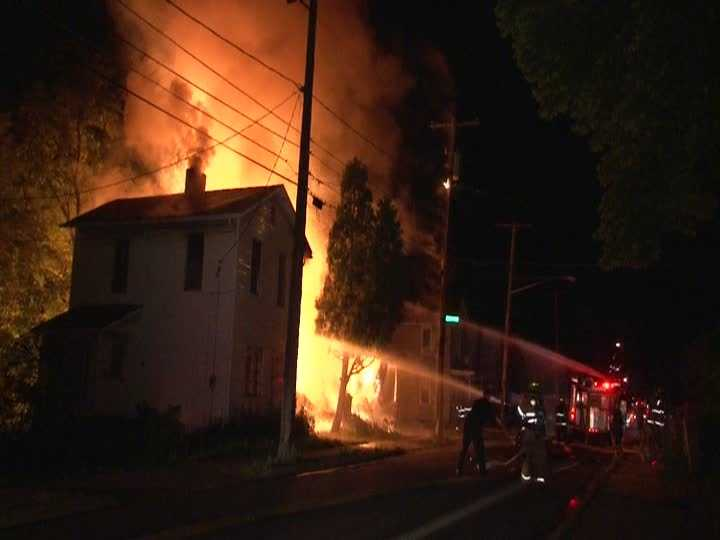 Fire broke out in two homes in New Castle late Thursday night.