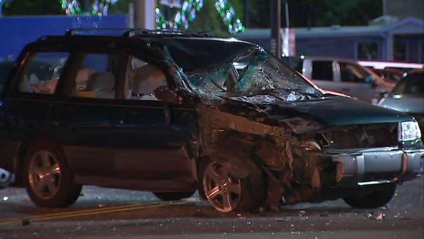 Police said the driver was checked for minor injuries and was not arrested.