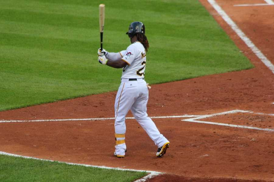 He debuted for the Pirates at the age of 22. His first game was on June 4, 2009, a Thursday night game at PNC Park against the New York Mets. McCutchen went to the plate 4 times, had 2 hits, one stolen base and 1 RBI. The Pirates won that game 11-6.