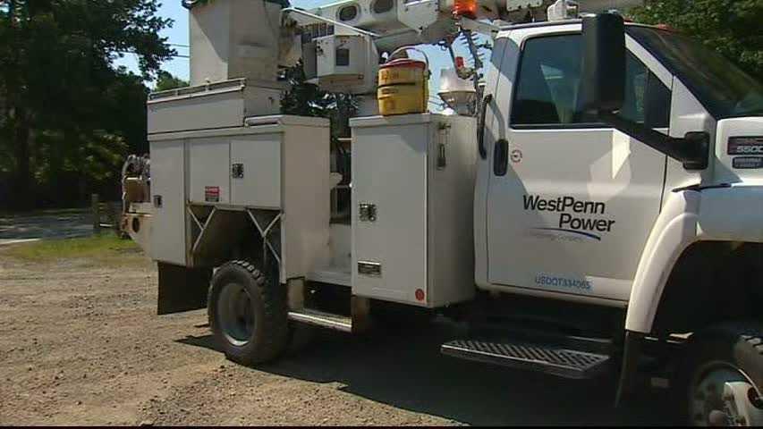 West Penn Power utility truck