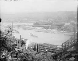 1908 - A look toward Point State Park and Downtown Pittsburgh.