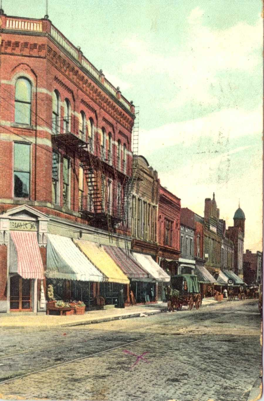 9/8/1911: Main Street at 4th Street in Irwin&#x3B; the Opera Company is in the foreground of this photo