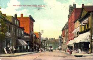 Main Street in Irwin, looking north from 3rd Street