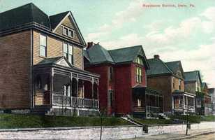 Residential section of Irwin, presumed by historians to be the Foster Avenue in North Irwin.