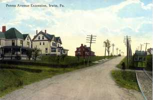October 1916: Pennsylvania Avenue extension near Lombard Street