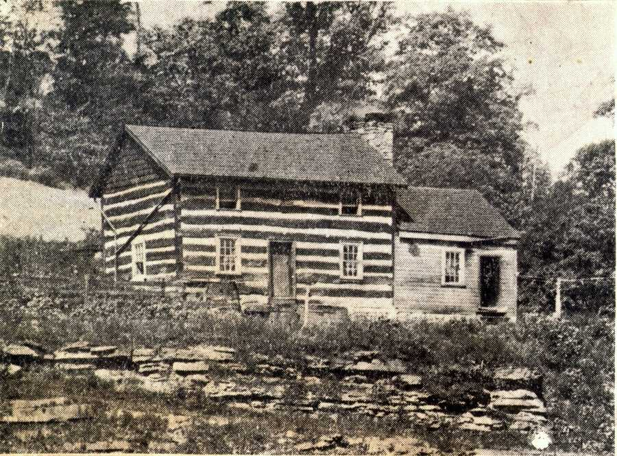 What was the oldest house in Irwin, pictured here in September 1937. The house is no longer standing.