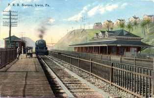 August 1914: Pennsylvania Railroad Station in Irwin