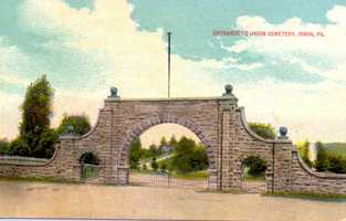 The entrance to the Irwin Union Cemetery
