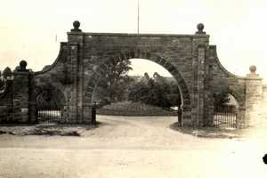 The entrance to the Irwin Union Cemetery along Pennsylvania Avenue in Irwin