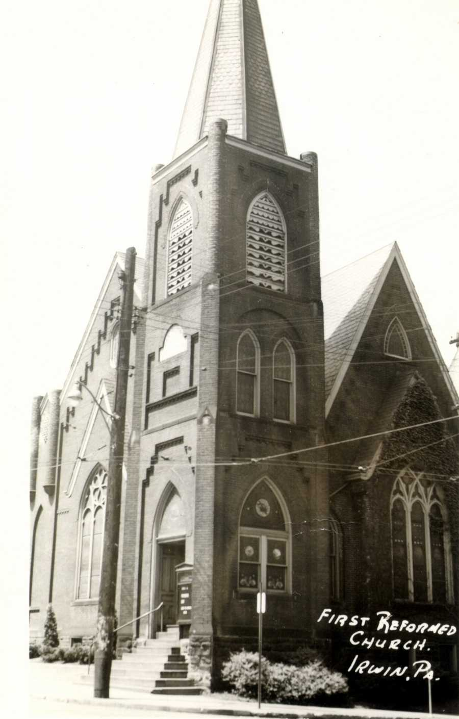 1954: First Reformed Church on Main and 4th Street in Irwin (now the First United Church of Christ)