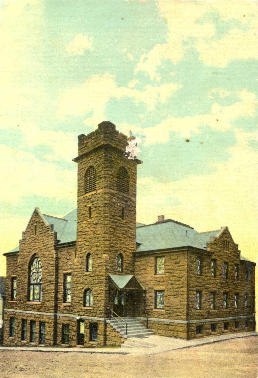 United Presbyterian Church on the corner of 4th and Maple Streets in Irwin, now known as United Presbyterian Church of the Covenant