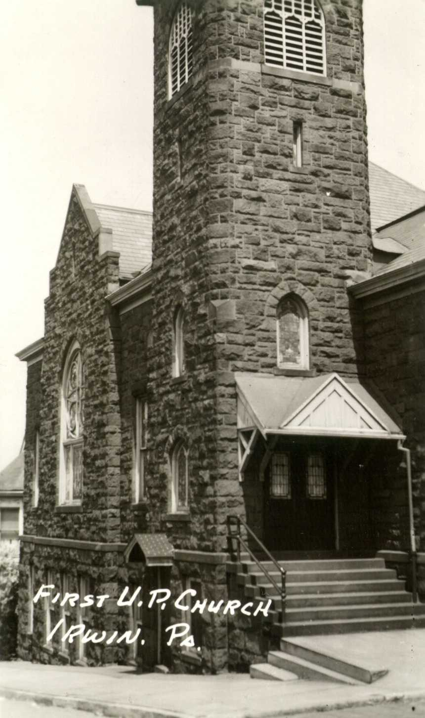 1954: United Presbyterian Church on the corner of 4th and Maple Streets in Irwin