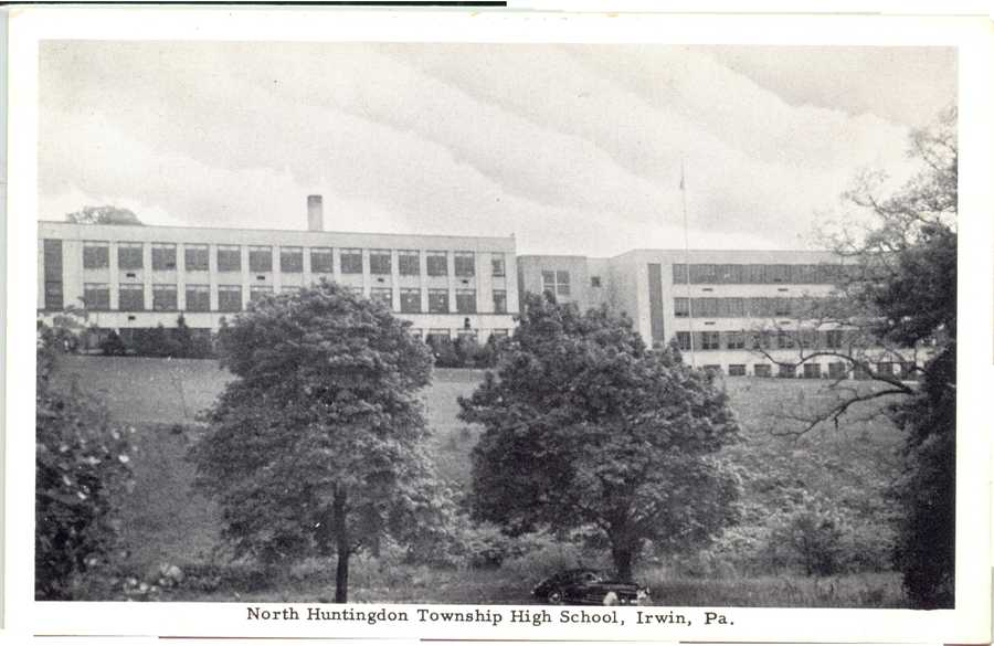 North Huntingdon Township High School on Pennsylvania Avenue (later Norwin Middle School East)
