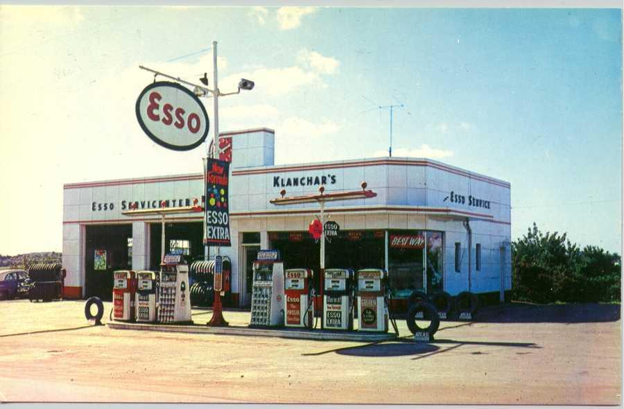 Klanchar's Esso Service Station on Route 30 West