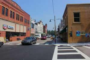 A similar look down Main Street in July 2012.