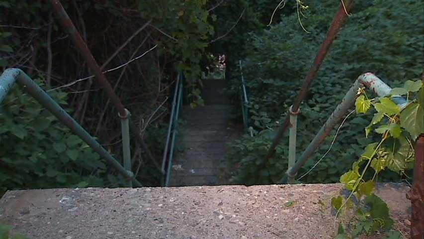 A set of city steps.