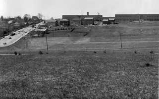 A picture of Bower Hill Road, taken in April 1967, near Jefferson Elementary and Junior High Schools